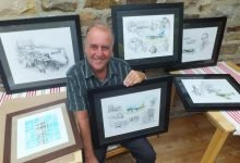 Swaledale aviation artist brings his work to Leyburn ready for the 1940's weekend!